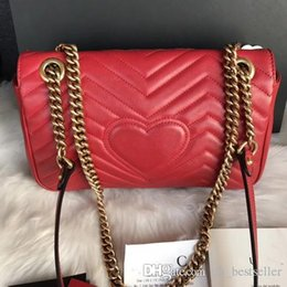 5a5ca573fd Free shiopping New gift Fashion black chain makeup bag famous luxury party  bag Marmont cowhide leather shoulder bag Women top designer bags