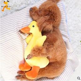 2019 jouer des jouets de poupée Jouet pour chien Sound Duck Dog Training Toys Nouveau Lovely Yellow Canard Squeaky Peluche Jouet Sound Dolls Jouer Chew Bite Pet Puppy Pet Supplies jouer des jouets de poupée pas cher