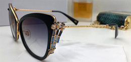 Wholesale pearls woman - New Fashion Designer Sunglasses Charming Cat Eye Plate Frame Legs with Pearls and Diamonds Popular Sales Summer Style Top Quality
