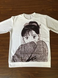 Crewneck dos desenhos animados on-line-Sweety Clássico Anime Camisola Moda Homens Mulheres Manga Longa Outerwear Streetwear Hipster Tops Dos Desenhos Animados 3d Impressão Crewneck Venda Quente