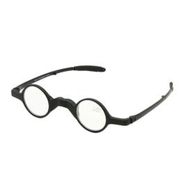 Складывающиеся очки для чтения онлайн-Складной ретро круглой формы очки для чтения С случае складной пресбиопии дальнозоркости выродок карманный читатель + 1.0 до + 3.5