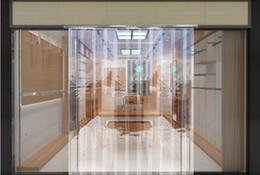 rideaux de porte pvc Promotion Rideau doux de supermarché en plastique transparent de PVC rideau chaud de porte de moustique d'été