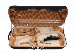 Violon violon en Ligne-Double Casde Violin / Viola Case Tenir 2 pcs Strong 4/4 Pleine grandeur
