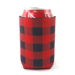 2019 maniche decorative Contenitori per bottiglie di materiale sommergibile Red Lattices Cooler Cup Sleeve Moda Bottiglie Decorative Pattern Cups Sleeves Vendita calda 1 8nyb ii sconti maniche decorative