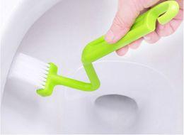 1 Pz NUOVI giocattoli da bagno per bambini di tipo S Set da bagno sanitari Set da bagno per bambini Curvo Bent Handle Cleaning Scrubber Brush da