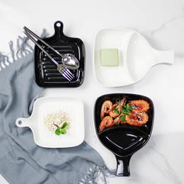 Wholesale ceramic pie - 2017 Best Creative Fan Shape Divide Ceramic Baking Pie Plate Au Gratin Porcelain Creme Brulee Ramekin Dish Cheese Kitchen Tool