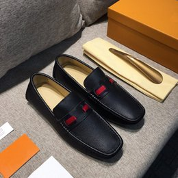Wholesale low heels wedding shoes - Original Box!!!New Arrival Mens Loafers GLORIA Dress Wedding Casual Walk Shoes Paris Office Drive Real Leather Shoes Top Quality Size 38-46