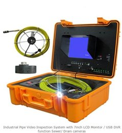Wholesale Drain Inspection Cameras - Industrial Pipe Video Inspection System with 7inch LCD Monitor   USB DVR function Sewer  Drain cameras