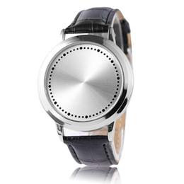 2020 ремешок для часов из унисекса Fashion Creative LED Touch Screen Display Digital Men Women Unisex Watch Leather Strap Luminescence Wrist Watches New Arrivals дешево ремешок для часов из унисекса