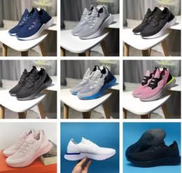 buy online c9397 8f5bd De alta calidad Epic Reaccionar Mosca tejida Partículas Burbuja Respiración  Cómoda Jogging Zapatos Corrientes Hombres Mujeres Rosa Zapatillas de  deporte ...