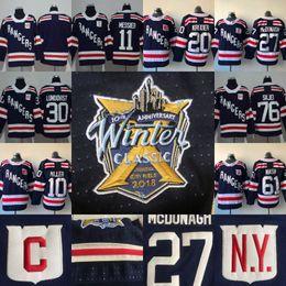93 Mika Zibanejad Jersey 2018 Winter Classic New York Rangers 10 J.T.  Miller 11 Mark Messier 20 Chris Kreider 76 Brady Skjei Hockey Jerseys 0300b118a
