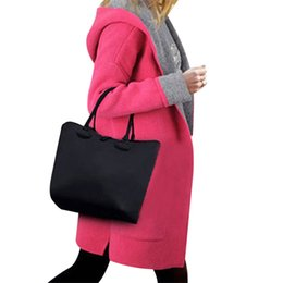 Wholesale Thin Red Trench Coat - Wholesale-Women Trench 2017 New Large Size Women Loose Loose Thin Hooded Cardigan Europe And The United States Fat MM Woolen Coat Red 5XL