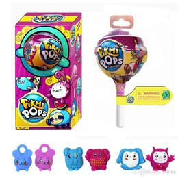 Wholesale Pops Dolls - Pikmi Pops 3 INCH Surprise Balls Unwrap Scented Color Changing Glittering Ball with Ramdon Plastic Figures Pikmi Pops Toy For Kids.