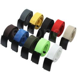 Wholesale Mens Canvas Webbing Belts - O123 Fashion Unisex Plain Webbing Mens Boys Waist Belt Waistband Casual Canvas Belt