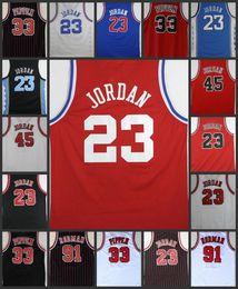 Wholesale Michael Manning - Men's #23 45 Michael jerseys 33 Scottie Pippen 91 Dennis Rodman Zach LaVine Bulls Jerseys Embroidery Stitched jerseys