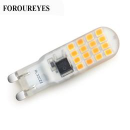 G9 Lampada a LED AC220V 5W 32LEDS SMD2835 Lampadina in silicone Sostituire 40W Luce alogena per Lampadario di cristallo Illuminazione a soffitto da