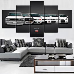 2019 auto leinwand bilder Leinwand Malerei HD Print Modulare Kunstwerk Moderne 5 Stücke Nissa Skyline Gtr Auto Bilder Home Dekorative Wandkunst Einzigartige Poster Y18102209 rabatt auto leinwand bilder
