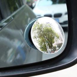 vw cc fibre de carbone Promotion Haute définition sans cadre réglable petit miroir 360 degrés verre convexe grand angle miroir de la tache aveugle auxiliaire