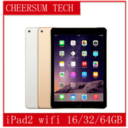 "Wholesale Camera Tablet Pc - Refurbished iPad 100% Original Apple iPad2 16GB 32GB 64GB Wifi iPad 2 Apple Tablet PC 9.7"" IOS refurbished Tablet 5pcs free DHL"