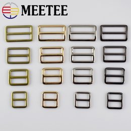 Wholesale Tri Glides - 5pcs 2cm,2.5cm,3.2cm,3.7cm Webbing Straps Metal Tri Glide Adjust Buckle Word Buckle Bag Metal Belt Ring Buckle Bag Parts