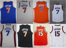 Wholesale Ripped Shorts For Men - 2017 New 7 Carmelo Anthony Man Jerseys Cheap Jersey For Sport Fans All Stitched Team Blue Color Orange White Black Size S-3XL
