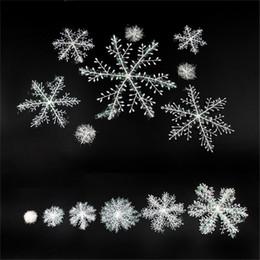 rifornimenti di decorazioni natalizie dell'hotel Sconti Buon albero di Natale Fiocco di neve in plastica mercato Hotel Vetrina Disposizione fiocchi di neve Decorazione regalo Festosa per feste 0 65fg6 bb