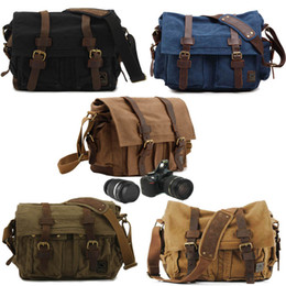 Wholesale Photography Men - Vintage Camera Shoulder Bag with Removable Inserts for DSLR Cameras Video Outdoor Travel Photography Bag 5 Style Dual Purpose Bag G177S