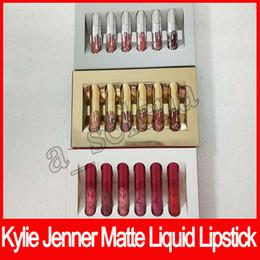 Wholesale Birthday Sets - Hot KYLIE Holiday Edition lip gloss Kit Birthday Edition kylie MATTE Liquid lipstick kylie jenner collection set 6pcs set