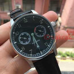 Wholesale Automatic Portuguese Watches - 2018 hot selling Luxury Mens watch Mechanical Wristwatch Portuguese 7 Day 7Day IW500109 I W 500109 Black Dial Automatic Men's tourbillon Wat