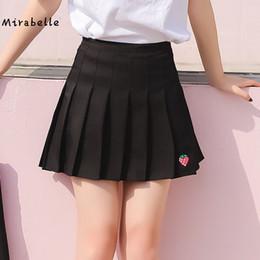 Wholesale women s school girl skirt - Mirabelle summer American School Style Fashion Women elehalf Pleated mini Skirts high waist casual girls skirts women leggi