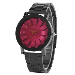 Presentes roxos únicos on-line-KEVIN Relógio dos homens Azul / Roxo Cor Vermelha Único Algarismos Romanos Dial Homem Relógio de Pulso de Metal Criativo Strap Clock Presentes Relógio Masculino