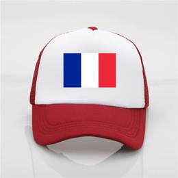 2019 bandeira france cor Bandeira da França logotipo boné de beisebol chapéu patriótico esporte futebol cheerleader Cap 9 cor chapéu de sol juventude hip hop chapéu bandeira france cor barato