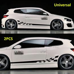 Automobili grafiche del corpo online-2 pezzi adesivi per auto adesivi impermeabili in vinile con grafica laterale adesivi per carrozzeria adesivi neri