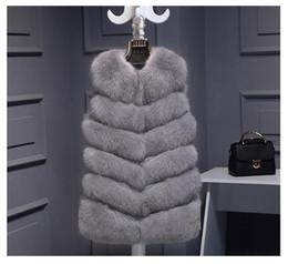 2020 plus größe fuchs weste Hochwertige Pelzweste mantel Luxus Faux Fox Warme Frauen Mantel Westen Wintermode pelz frauen Mäntel Jacke Gilet Veste Plus größe 3XL rabatt plus größe fuchs weste