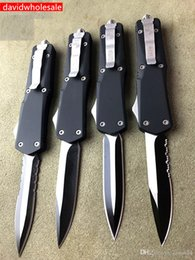 Argentina Cuchillo microtech 7 estilos Camo y empuñadura negra Cuchillos automáticos de alta calidad Cuchillos de caza de camping Carga gratuita Suministro