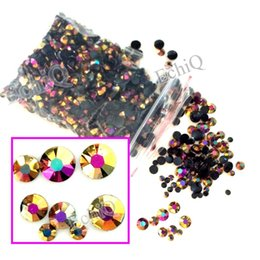 3d diy phone cases Coupons - 3D Nail Art Tips AB Milk Jelly Color Rhinestone Mix Size Flat back Beads not hotfix for DIY Nails Phone Case Rose Gold AB J151