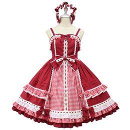 Robe alice en Ligne-Margaery's Après-midi ~ Classique Plaid Lolita JSK Dress par Alice Girl Pré-commande