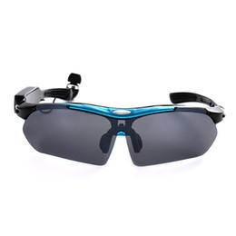 Auriculares para ciclismo online-Gafas de ciclismo inteligentes Unisex Auriculares estéreo Bluetooth Gafas de protección UV ciclismo Diseño ergonómico Deportes Gafas polarizadas
