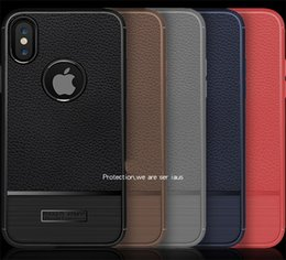 Wholesale Heavy Metal Iphone Cases - Rugged Armor fiber carbon Brushed TPU Metal tough heavy protective case cover for iPhone 6 6Plus 7 7Plus 8 8Plus iPhone X
