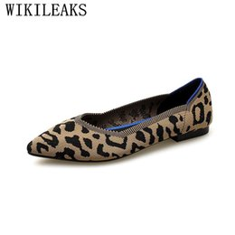 614499821f 2018 Luxury Brand Women Flats Leopard Flat Shoes Women Slip On Loafers  Designer Pointed Toe Ladies Shoes Zapatillas Mujer Casual