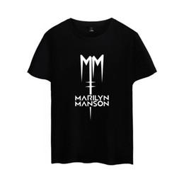 2019 camisas marilyn manson Marilyn Manson Music Rock Roll camiseta hombres de manga corta de algodón Casual camiseta divertida Graphic Tees camiseta masculina Camisetas Hombre