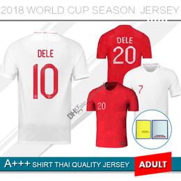2019 a medida que el jersey Calidad tailandesa 2018 Copa del mundo de fútbol Jersey ROONEY casa KANE STURRIDGE STERLING HENDERSON VARDY 18 19 camiseta de fútbol de distancia personalizada a medida que el jersey baratos