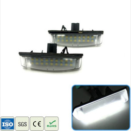 Wholesale Led Light Bulbs Toyota Camry - 2X Car LED License Plate Light 12V SMD Number Plate Lamp For Toyota Avensis Verso Camry Aurion Prius For Lexus IS200 LS430 GS300