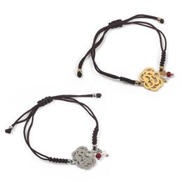 Wholesale Unique Links - TL Unique Designer Adjustable Nope Gold Silver Color Bear Bangle&Bracelet Woven Bracelet For Women Never Fade