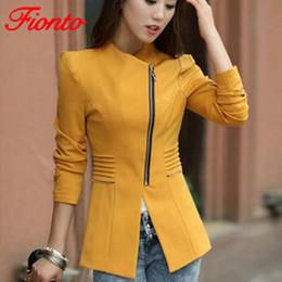 839a77adc05d Women Blazers Short Jacket 2018 Autumn Winter Solid Coat Casual Slim Suit  Cardigan Blazer Feminino Black Outwear Plus Size A2560 D1892602
