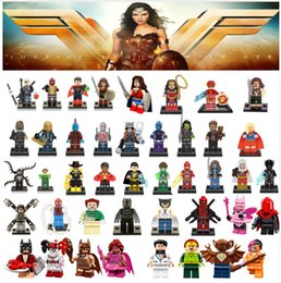 Wholesale dc toys - NEW For legoing Marvel Super Heroes Avengers Wonder Woman Guardians of the Galaxy Batman X man flash DC Building Blocks Toys Wholesale