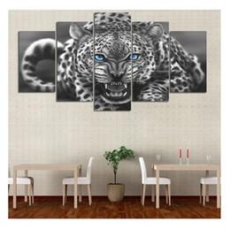 2019 peinture de diamant bleu Yeux bleus Animal Leopard Tiger Image 5d peinture de diamant, Diamant de bricolage broderie MosaicCanvas Painting Décoration de la maison 5pcs peinture de diamant bleu pas cher