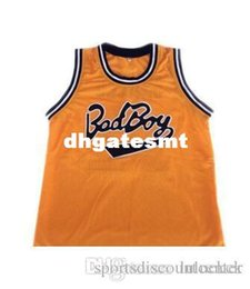 Wholesale Factory Big Man - Factory Outlet Notorious BIG Biggie Smalls BAD Boy #72 Basketball Jersey Throwback Stitched Jerseys Customized Any Name And Number