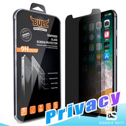 Wholesale Matte Lcd Screen - For Iphone X 8 7 Privacy Tempered Glass For S7 iPhone 6 Screen Protector LCD Anti-Spy Film Screen Guard Cover Shield for Samsung S6  S5