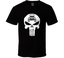 Jeep kleidung online-Punisher Jeep Skull Herren schwarz T-shirt T-Shirt Off Road Fan Geschenk neu von uns Rundhals Kleidung
